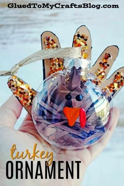 Handprint Turkey Ornament - Kid Craft