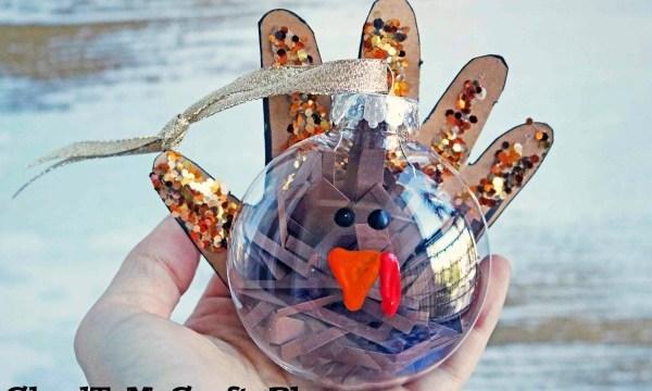 Handprint Turkey Ornament – Kid Craft