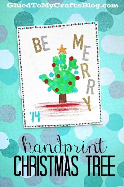 Handprint Christmas Tree Keepsake