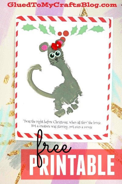 photograph about Twas the Night Before Christmas Printable Book identified as Twas The Night time Ahead of Xmas - Footprint Mouse Keepsake