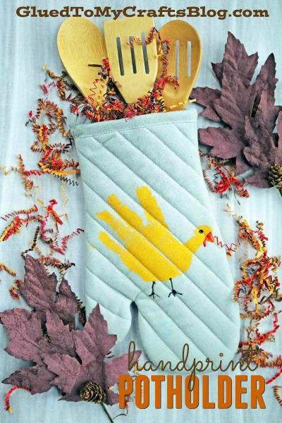 DIY Handprint Turkey Potholder - Kid Craft
