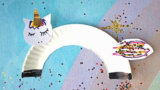 Super Easy Paper Plate Unicorn – Kid Craft