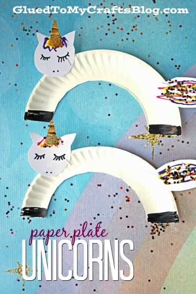 Super Easy Paper Plate Unicorn - Kid Craft