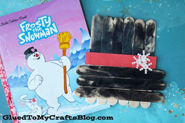 Popsicle Stick Frosty The Snowman Hat - Kid Craft