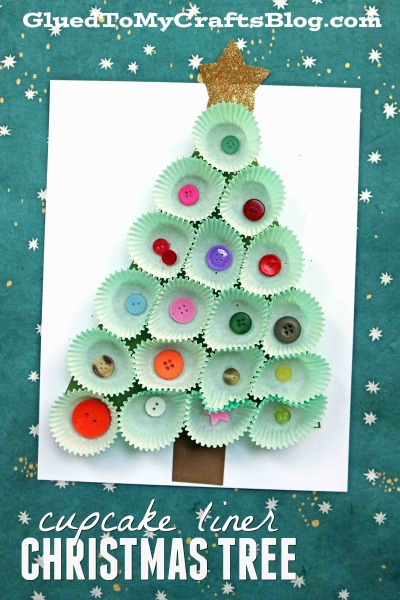 Cupcake Liner Christmas Tree - Kid Craft