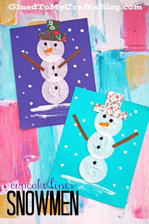 Melt-Free Cupcake Liner Snowmen