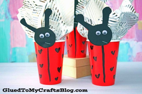 Valentine's Day Ladybug Cup Party Favor Holders