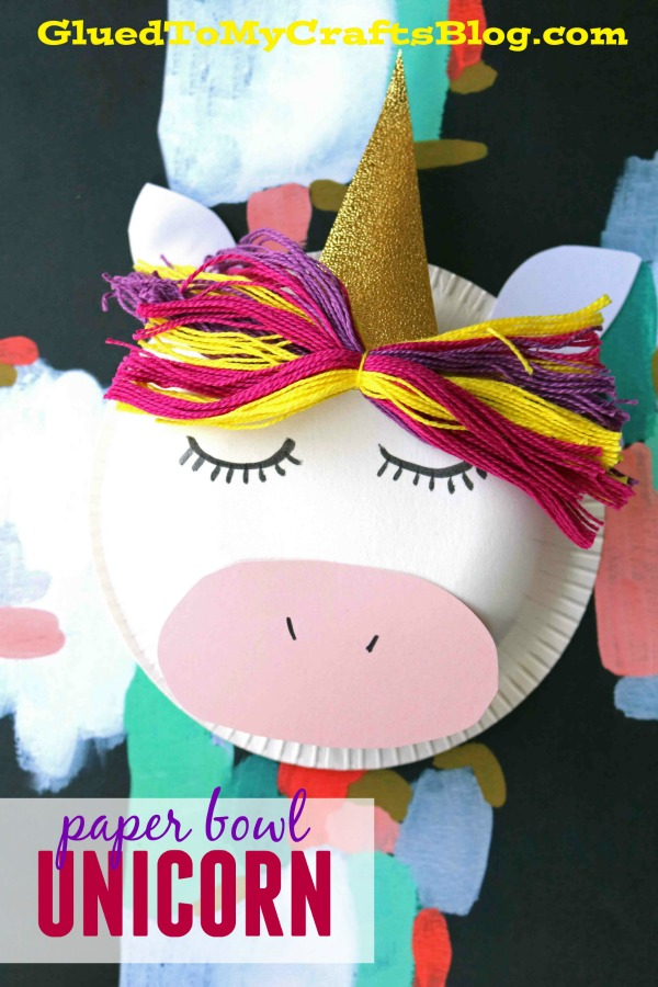 Paper Bowl Unicorn - Kid Craft
