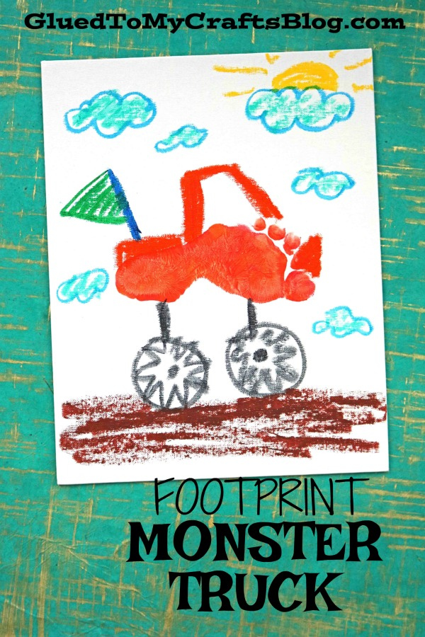 Footprint Monster Truck - Kid Craft Keepsake