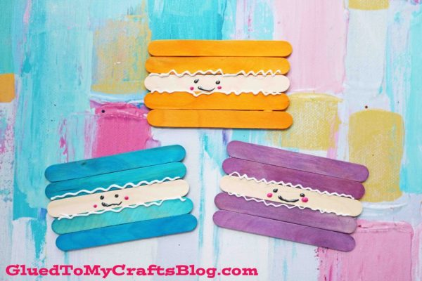 Popsicle Stick Macaroon Friends - Kid Craft