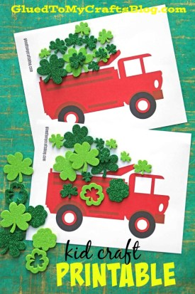 Dump Truck Full of Luck - St. Patrick's Day Kid Craft