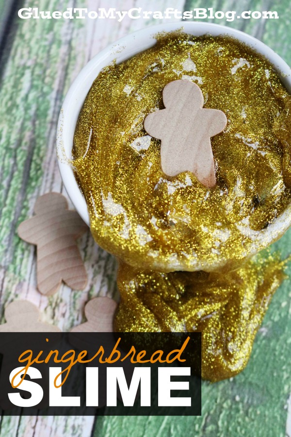 Gingerbread Man Slime - Easy Recipe