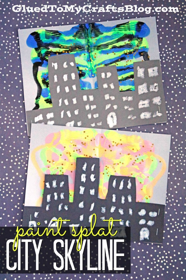 Paint Splat City Skyline Silhouette - Kid Craft