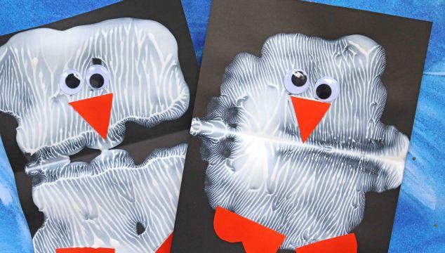 Paint Splat Penguin Friends - Kid Craft