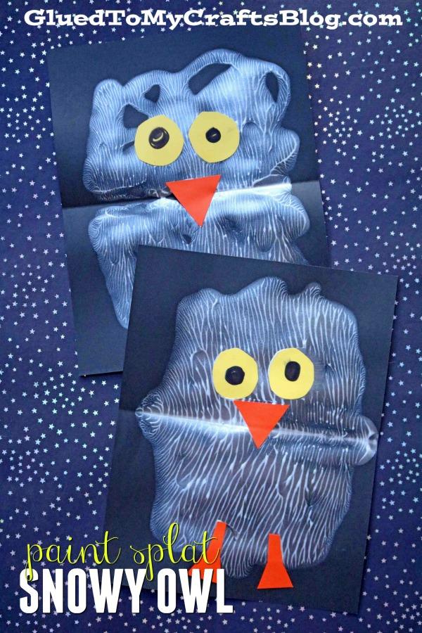Paint Splat Snowy Baby Owl - Kid Craft