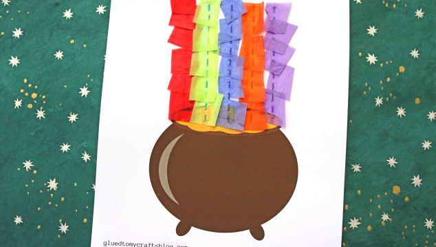 Rainbow Pot of Gold – Kid Craft