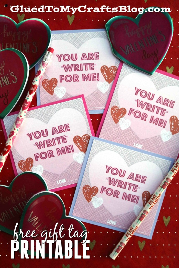 """Write"" For Me - Valentine's Day Gift Tag Printable"