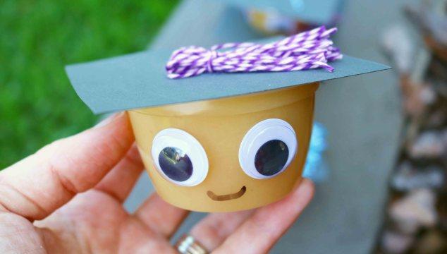 Graduation Applesauce Cups - Party Snack Idea