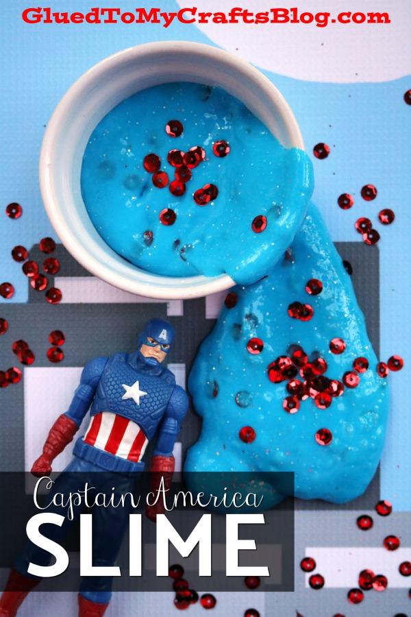 Captain America Inspired Slime