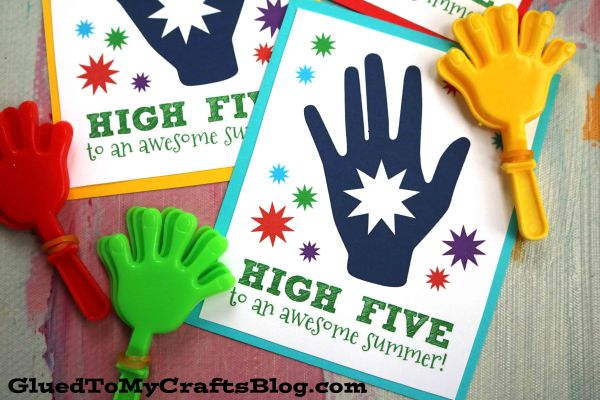 High Five To An Awesome Summer - Card Printable