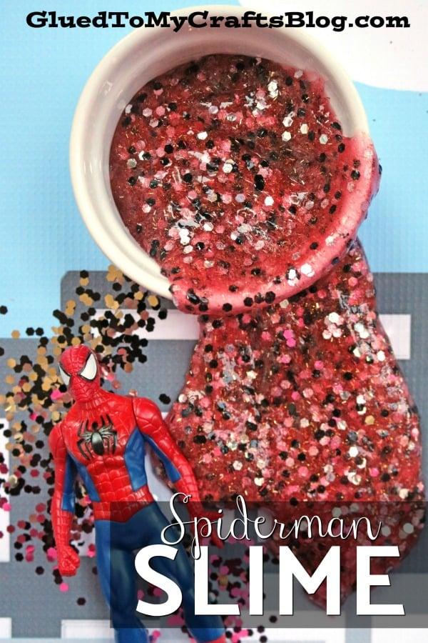 Spiderman Inspired Slime