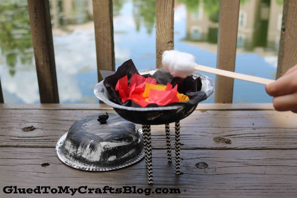 Paper Bowl Pretend Play Grill