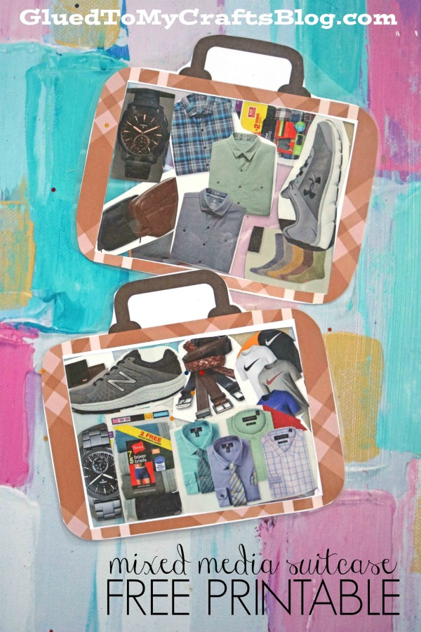 Mixed Media Suitcase - Kid Craft Idea