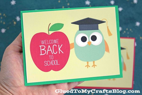 Welcome Back To School - Owl Card Printable