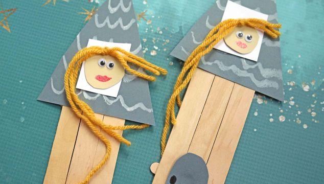 Popsicle Stick Rapunzel's Castle – Kid Craft