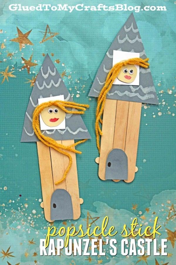 Popsicle Stick Rapunzel's Castle - Kid Craft