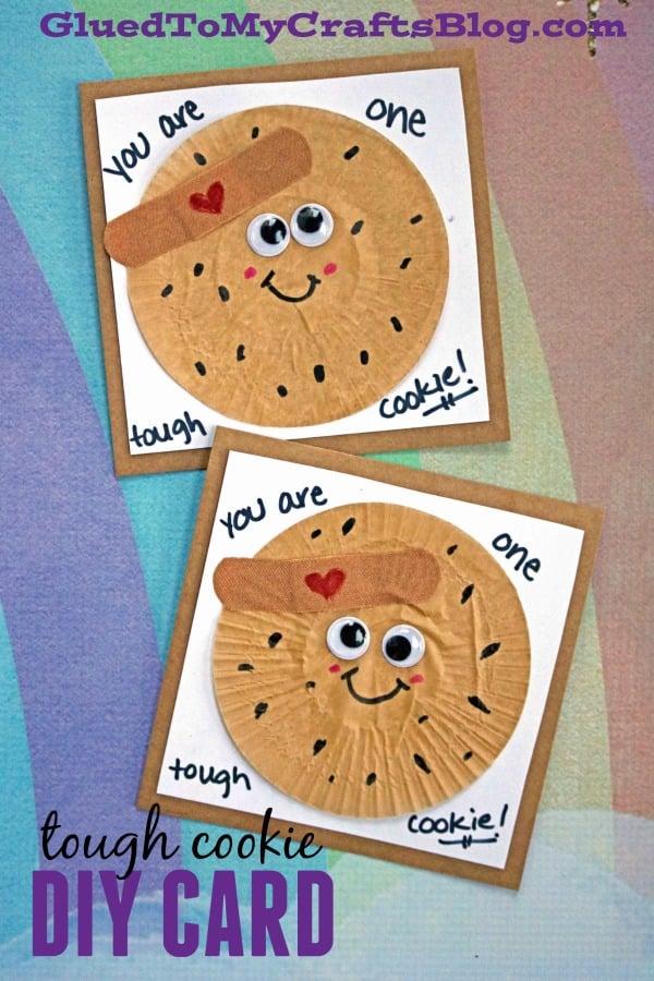 Cupcake Liner Tough Cookie Card Idea