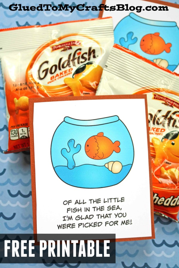 Out of all the Little Fish - Goldfish First Day of School Snack Idea