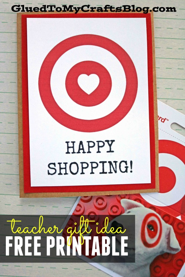 Happy Shopping - Target Gift Card Printable