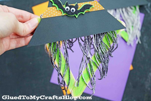 Popsicle Stick and Yarn Witch - Kid Craft