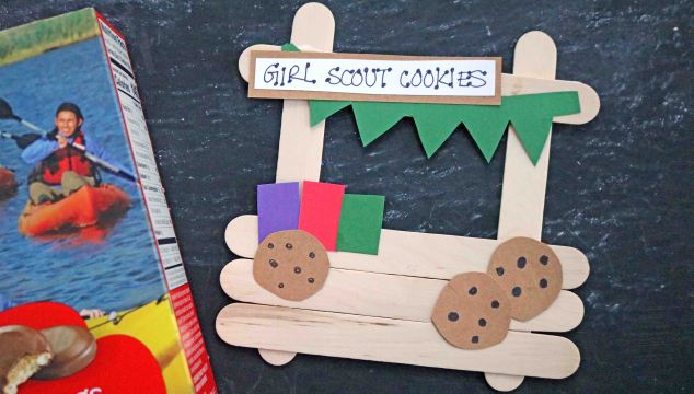 Popsicle Stick Girl Scout Cookie Booth – Kid Craft