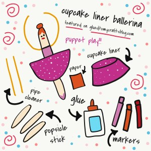 Cupcake Liner Ballerina Puppet - Kid Craft Idea