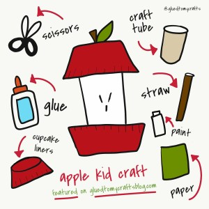 Toilet Roll Apple - Kid Craft Idea