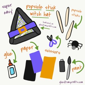 Popsicle Stick Witch Hat - Halloween Kid Craft Idea