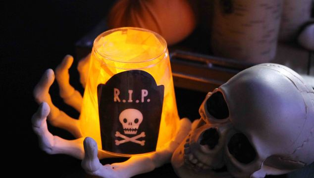 Glowing Gravestone Halloween Kid Craft