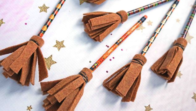 Halloween Party Favors – Pencil Witch Brooms