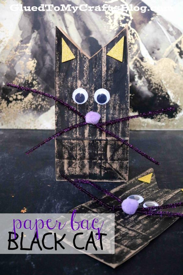 Paper Bag Black Cat - Kid Craft