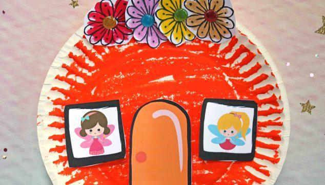 Paper Plate Pumpkin Fairy House – Kid Craft