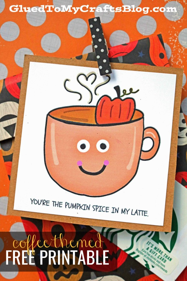 Pumpkin Latte - Gift Tag Printable
