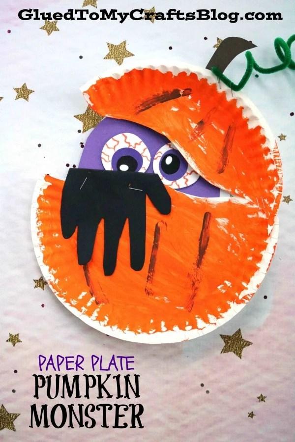 Paper Plate Pumpkin Monster Kid Craft Glued To My Crafts