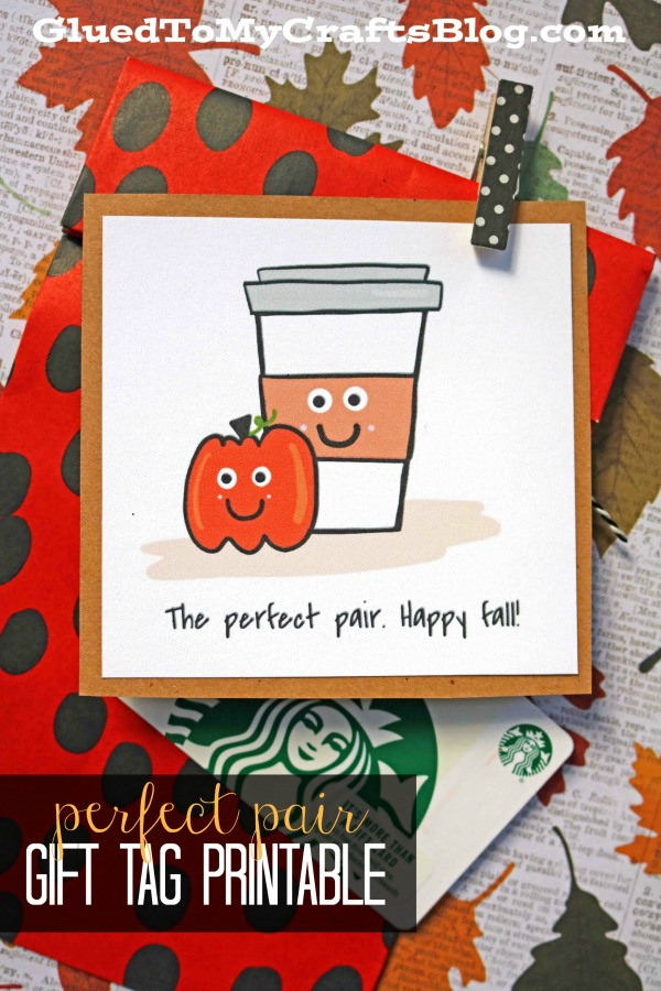 Pumpkin Spice Perfect Combo - Gift Tag Printable