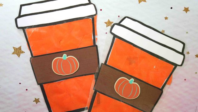 Stained Glass Pumpkin Spice Latte Craft