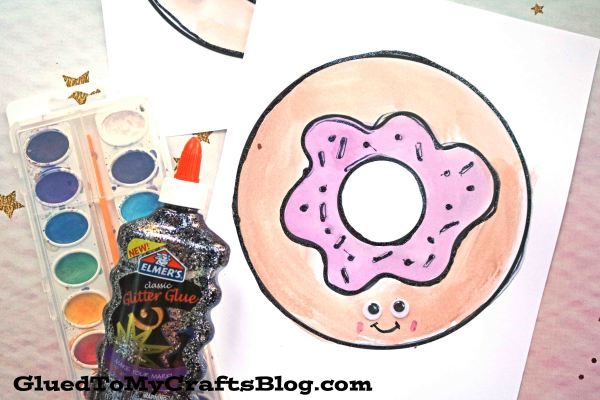 Watercolor Donut Friends - Kid Craft Idea