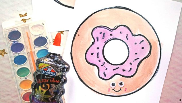 Watercolor Donut Friends – Kid Craft Idea
