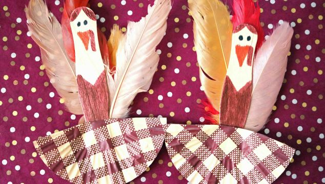 Craft Stick Turkey Ballerinas – Kid Craft