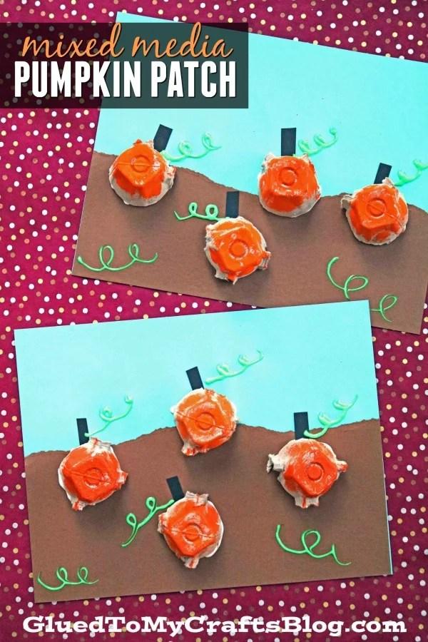 Egg Carton Pumpkin Patch - Kid Craft